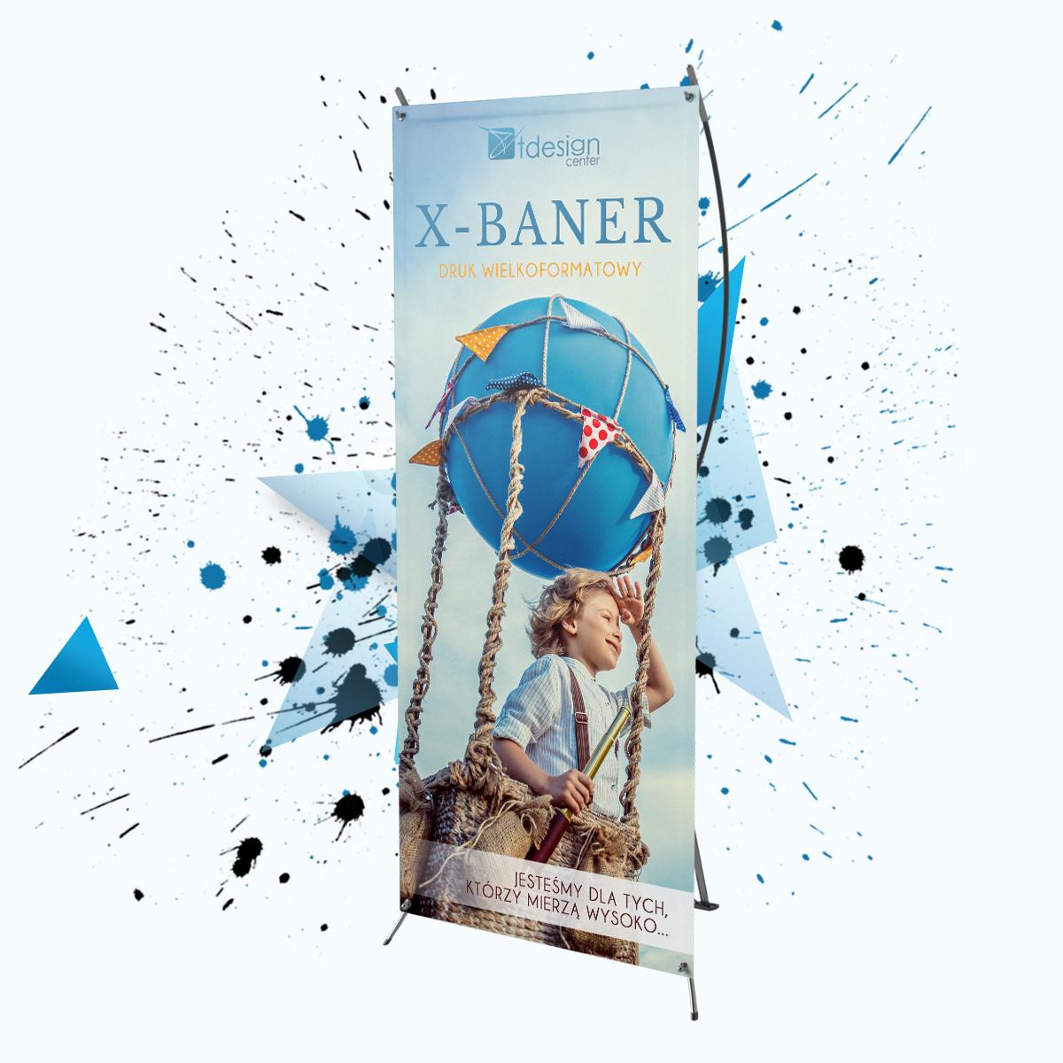 X-baner pajączek spider