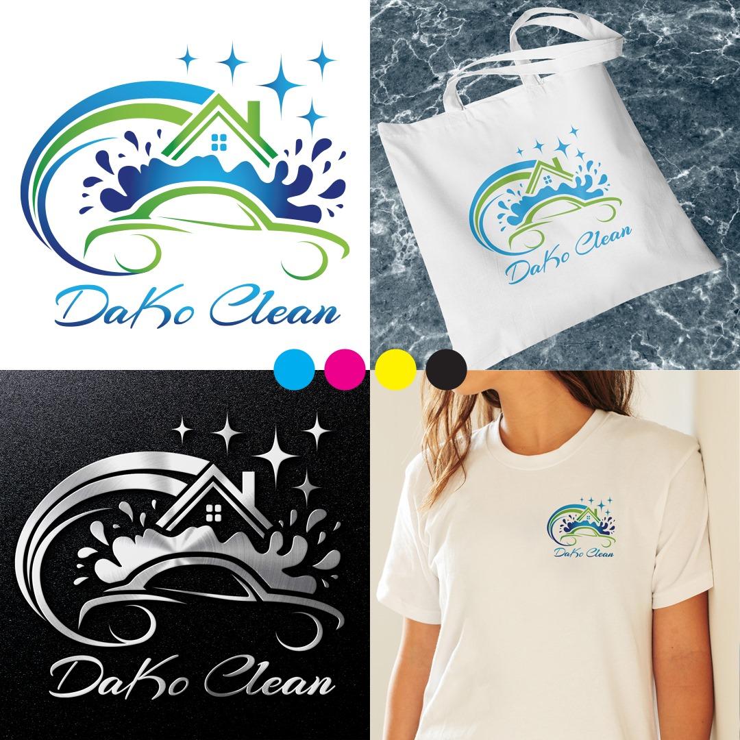 Logo stworzone dla firmy Daco Clean