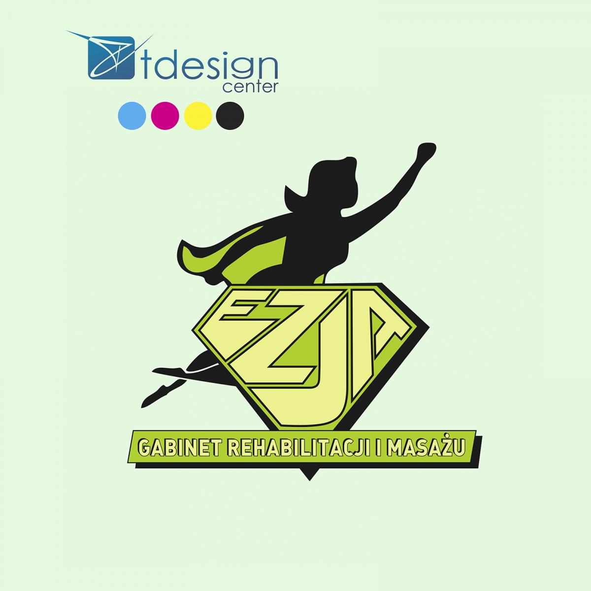 Logo stworzone dla Mobilnego Gabinetu Rehabilitacji i Masażu EZJA