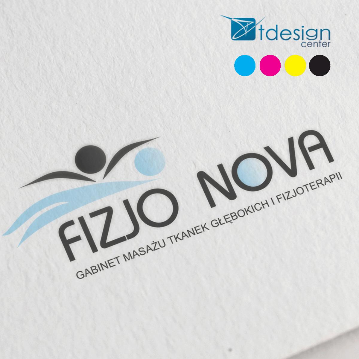 Logo zaprojektowane dla FizjoNova