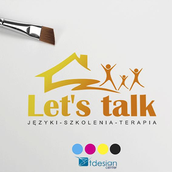 Logo stworzone dla szkoły językowej Let's Talk