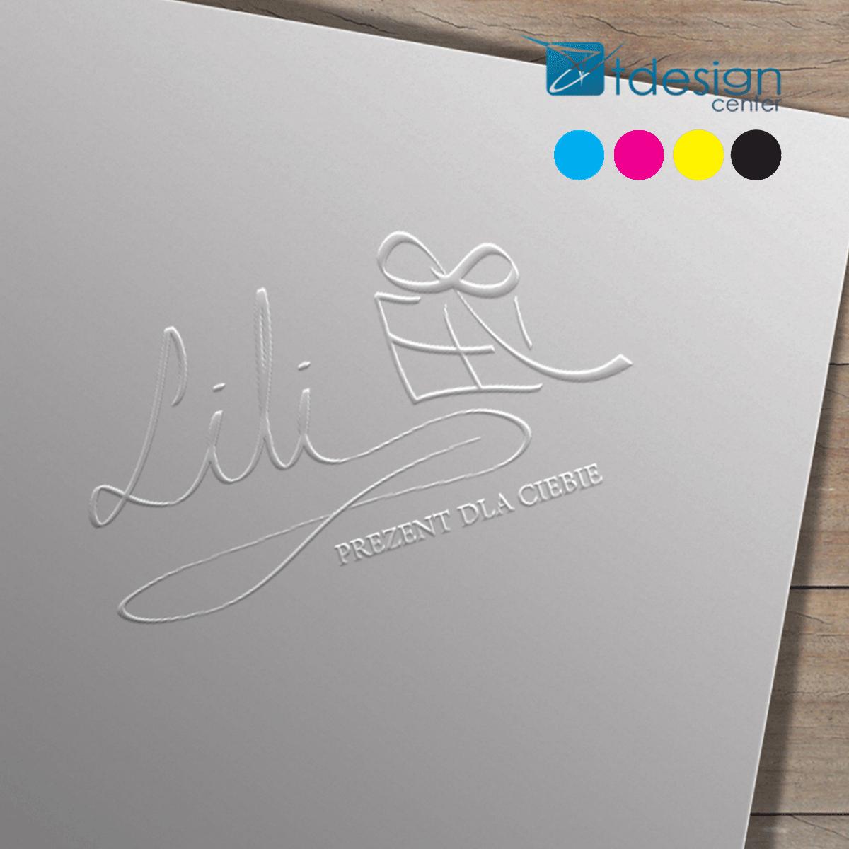 Projekt logo wykonany dla firmy LILI Prezent dla Ciebie