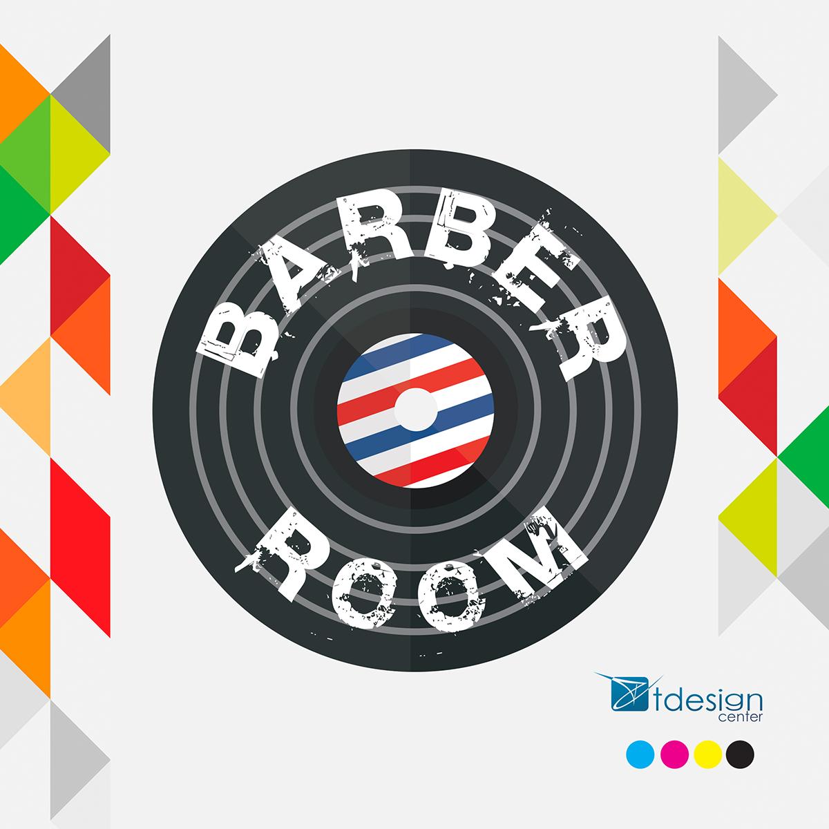 Logo stworzone dla Salonu Fryzjerskiego Look'n'Roll - sekcja barber