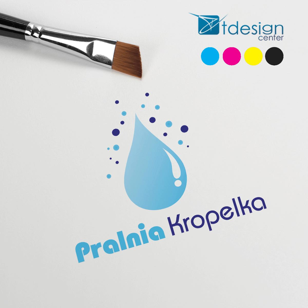 Projekt Logo wykonany dla Pralni Kropelka