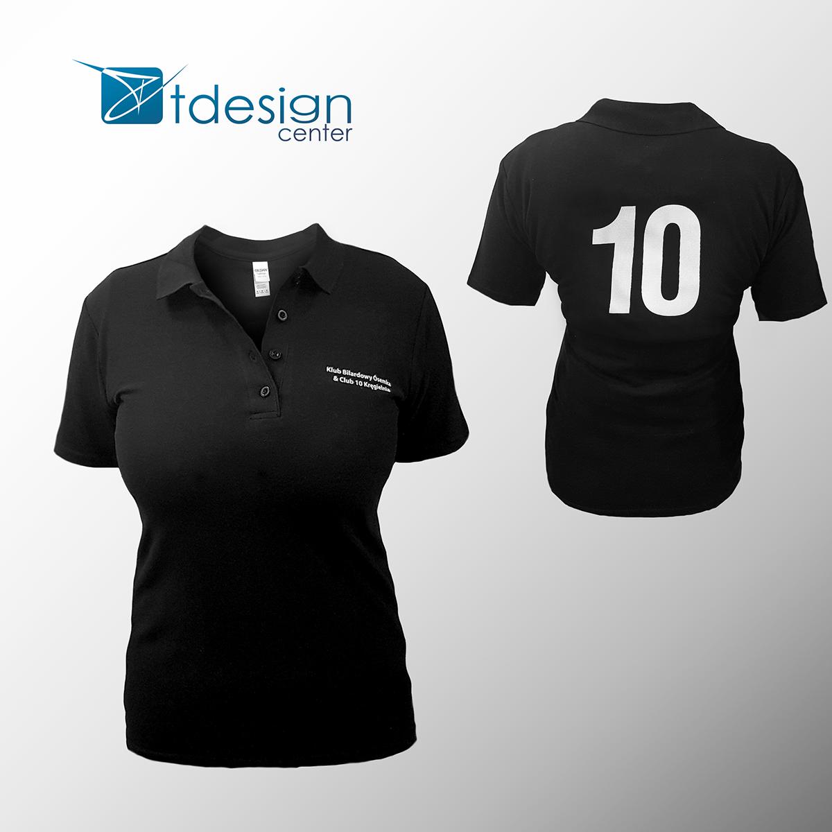 Damska koszulka Polo z nadrukiem - projekt + realizacja