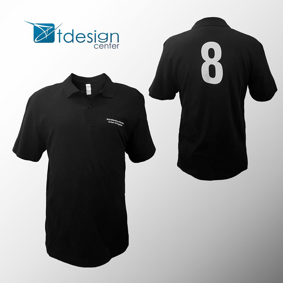 Męska koszulka Polo z nadrukiem - projekt + realizacja