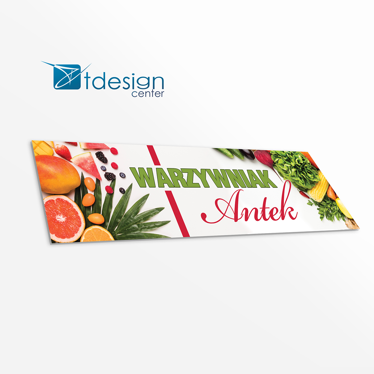 Tablica DIBOND 300x75cm - projekt + druk