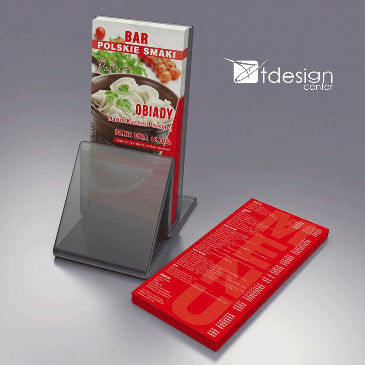 Ulotka DL, projekt + druk, realizacja dla Baru Polskie Smaki