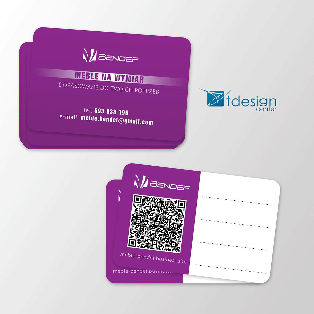 Karty biznesowe 85x54mm - projekt + druk