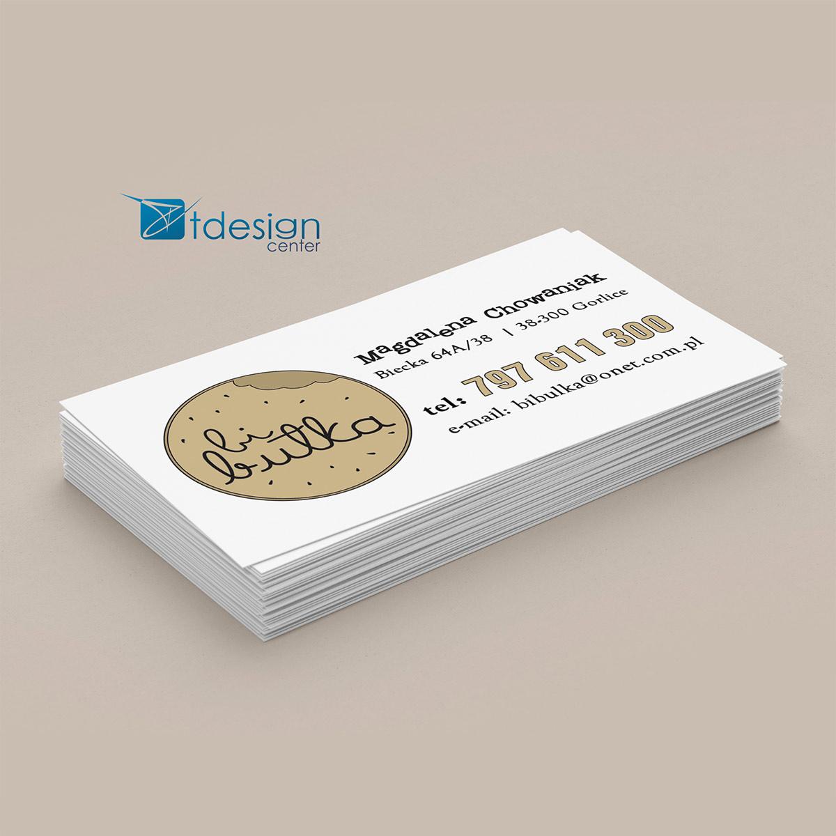 Wizytówka 90x50mm - projekt + druk