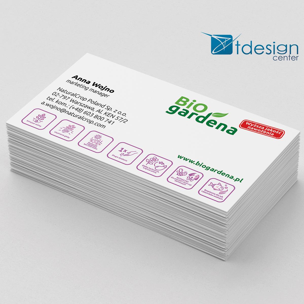 Wizytówka 90x50m, projekt + druk