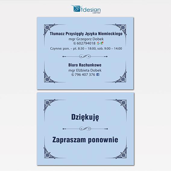 Tablice DIBOND 40x30 cm, projekt + druk, realizacja dla Biura Rachunkowego