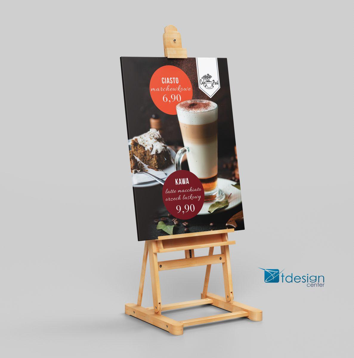 Tablica PCV - projekt i realizacja dla Cafe Park