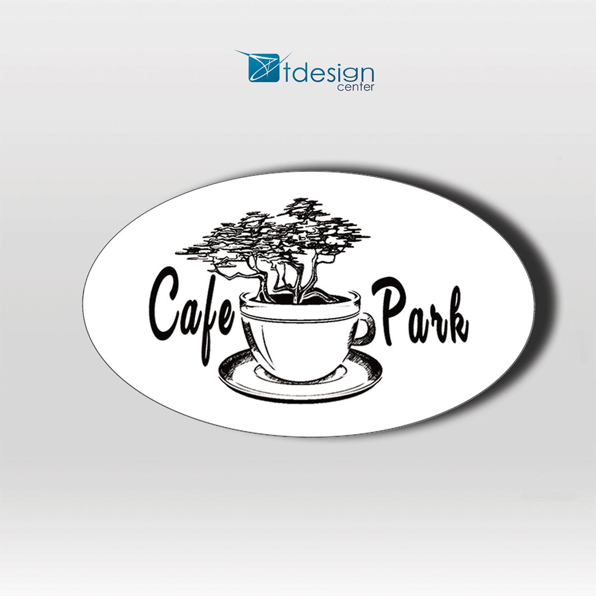 Naklejki 80x40m, projekt + druk, realizacja dla CafePark