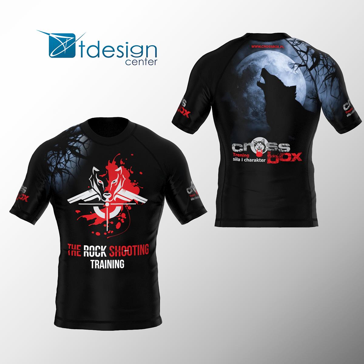 Koszulka treningowa męska (dopasowana), nadruk na 100% materiału - projekt + realizacja dla Cross Box GORLICE