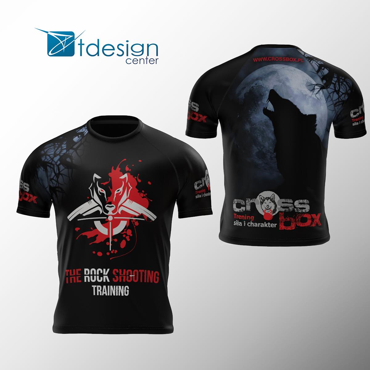 Tshirt treningowy męski, nadruk na 100% materiału - projekt + realizacja dla Cross Box GORLICE