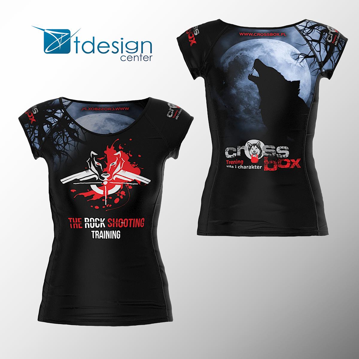 Koszulka treningowa damska, nadruk na 100% materiału - projekt + realizacja dla Cross Box GORLICE