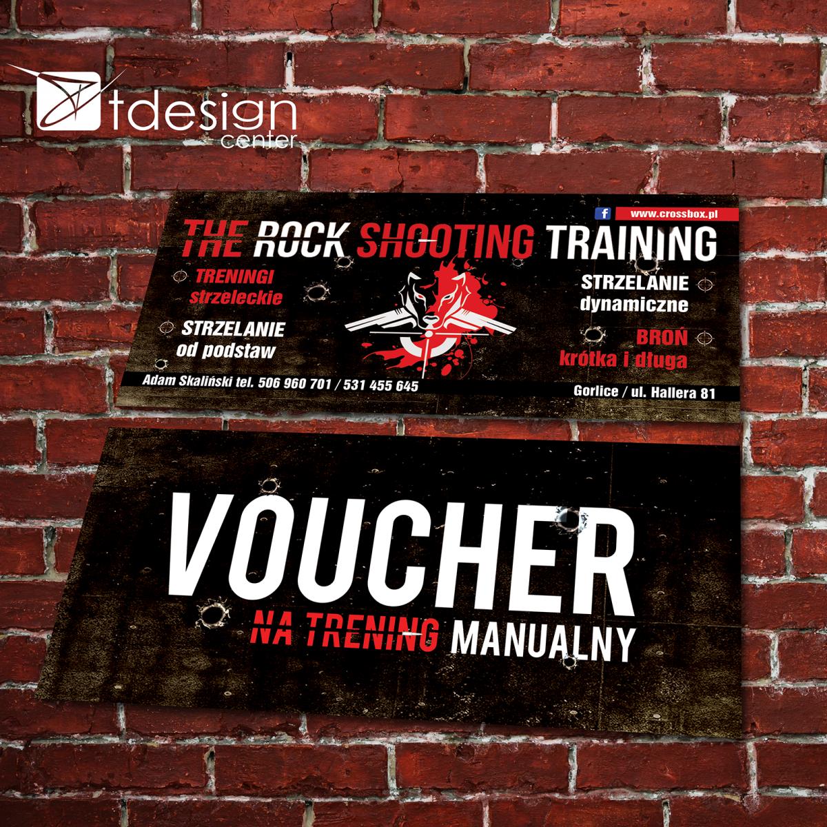 Voucher 191x86 mm zaprojektowany i drukowany dla klubu sportowego Cross Box Gorlice