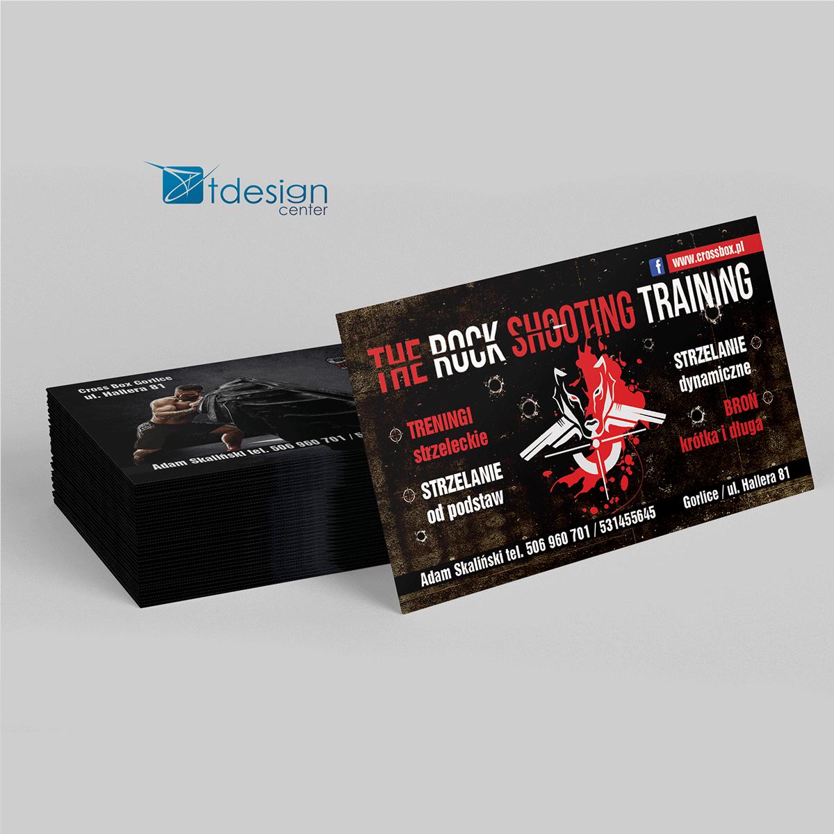 Wizytówki 90x50mm, projekt + druk, realizacja dla klubu sportowego Cross Box Gorlice
