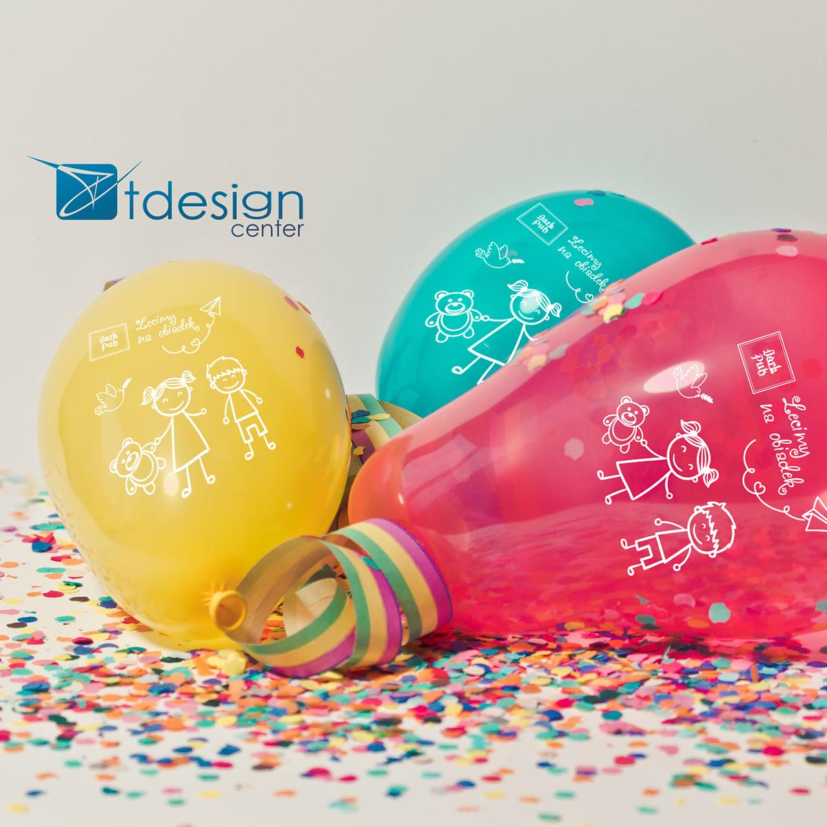 Kolorowe balony z nadrukiem - projekt + realizacja