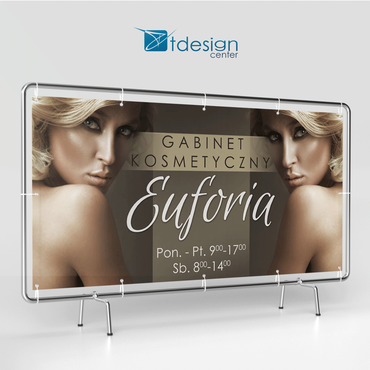 Baner 190x100cm, projekt wykonany dla gabinetu kosmetycznego Euforia
