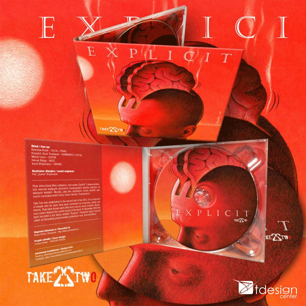Okładka, płyta CD, projekt+druk