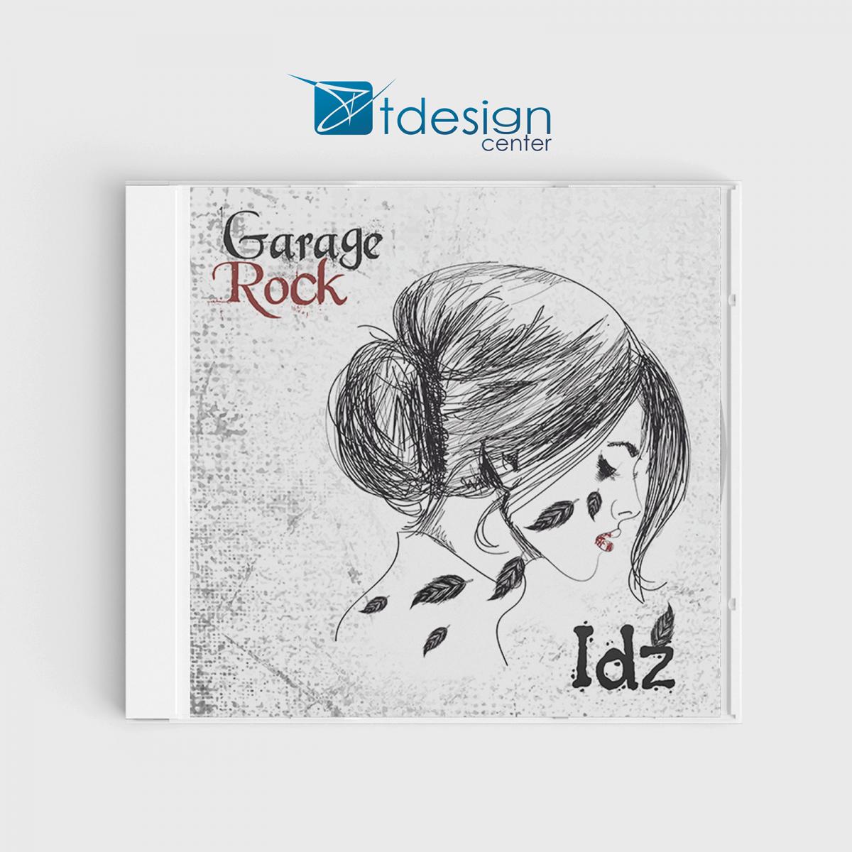 Projekt okładki płyty - wykonanie dla zespołu Garage Rock