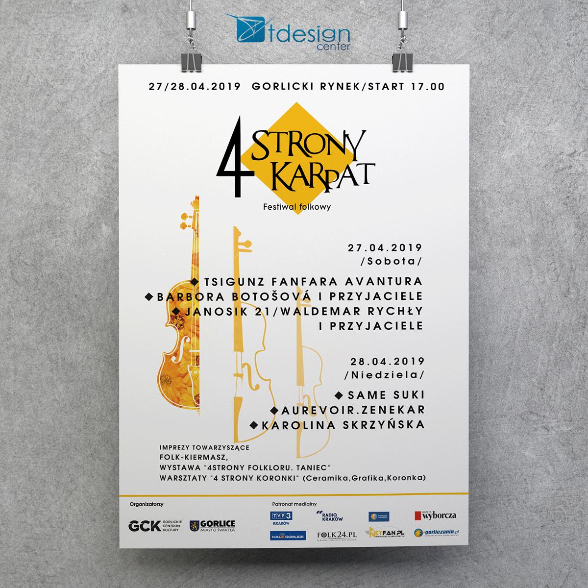 Plakat B1, druk wykonany dla Gorlickiego Centrum Kultury