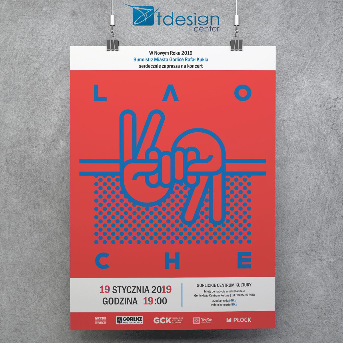 Plakat A2, druk zrealizowany dla Gorlickiego Centrum Kultury