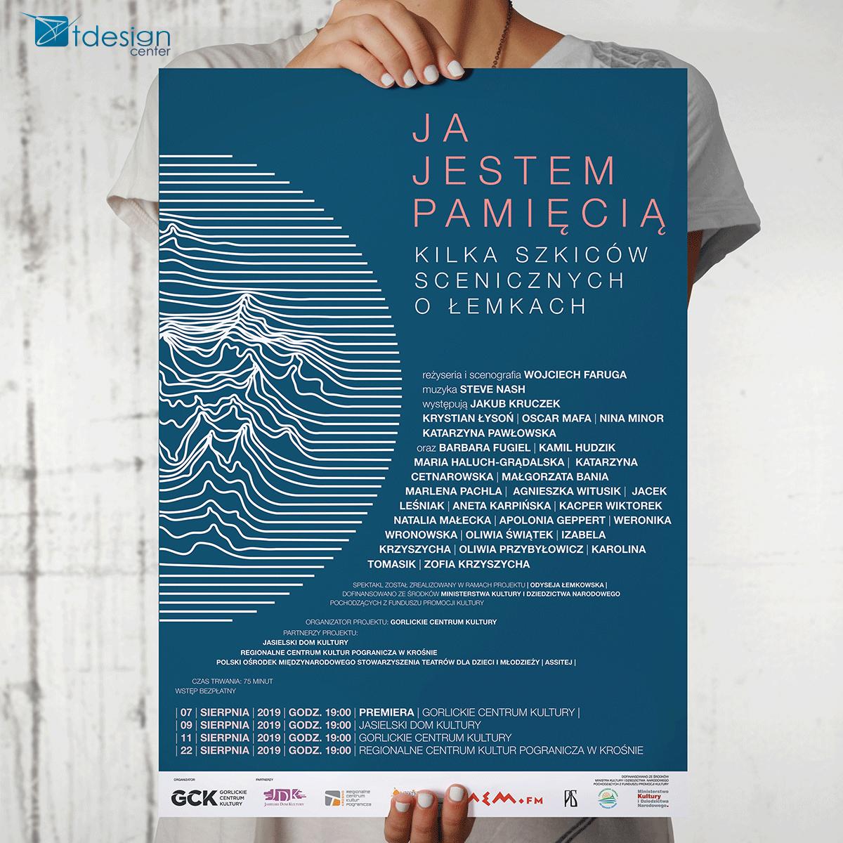 Plakat B1, druk zrealizowany dla Gorlickiego Centrum Kultury