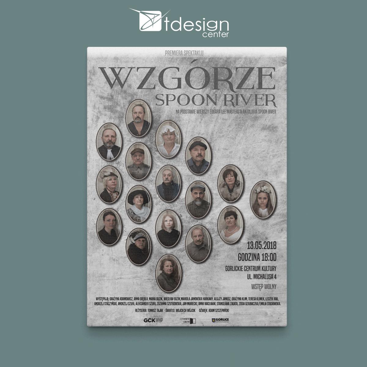 Plakat B2, druk zrealizowany dla Gorlickiego Centrum Kultury