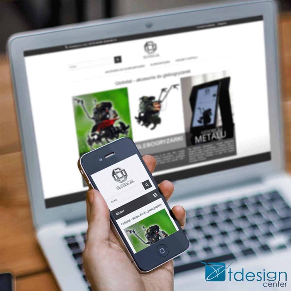 Strona internetowa stworzona dla firmy Globstal