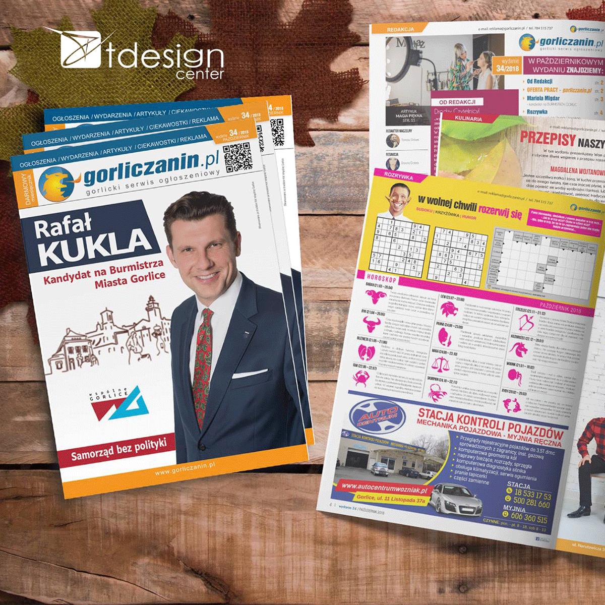 Skład DTP + druk, gorliczanin.pl wydanie nr 34