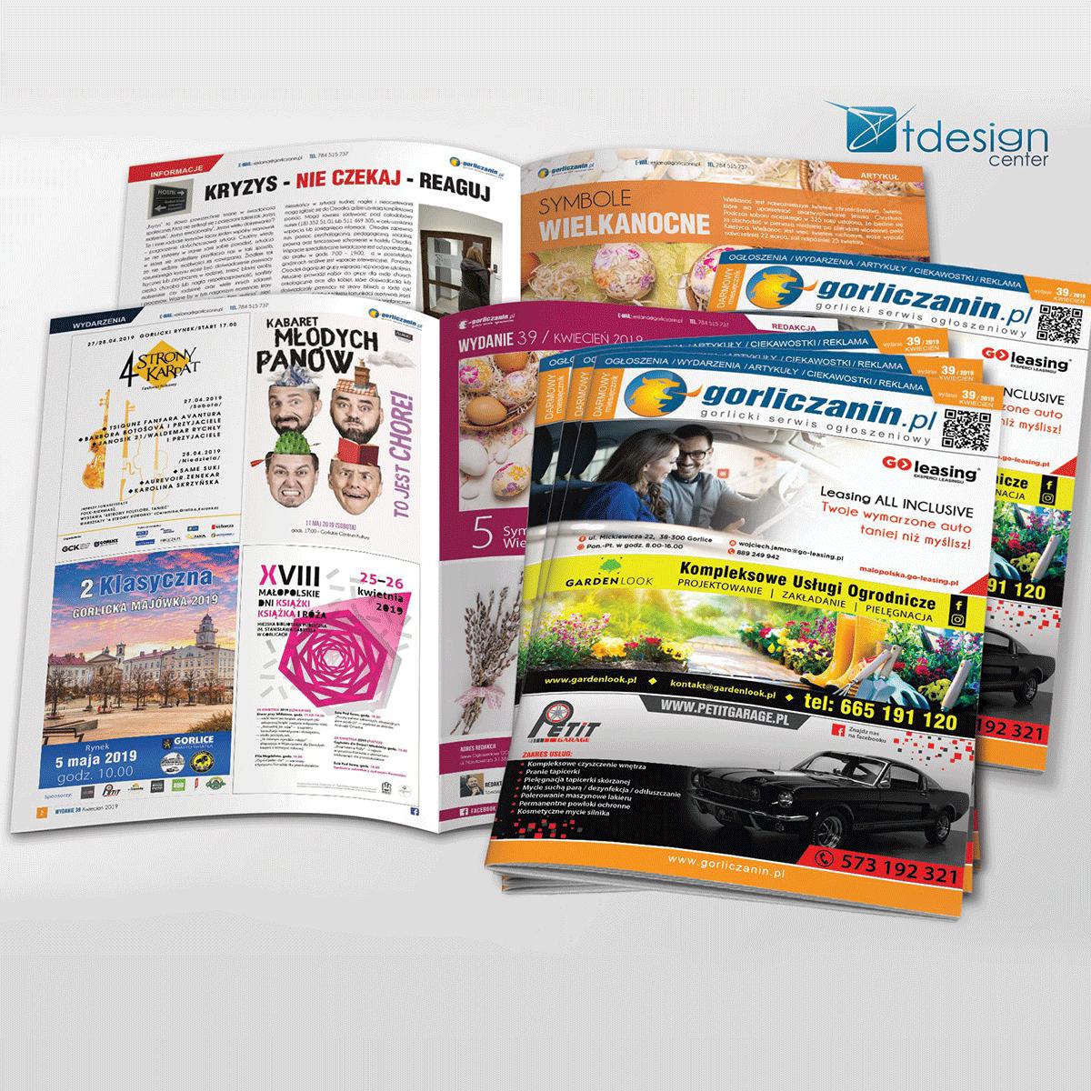 Skład DTP + druk, gorliczanin.pl wydanie nr 39