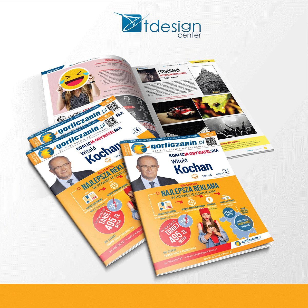 Skład DTP wraz z drukiem, 43 wydanie gorliczanin.pl