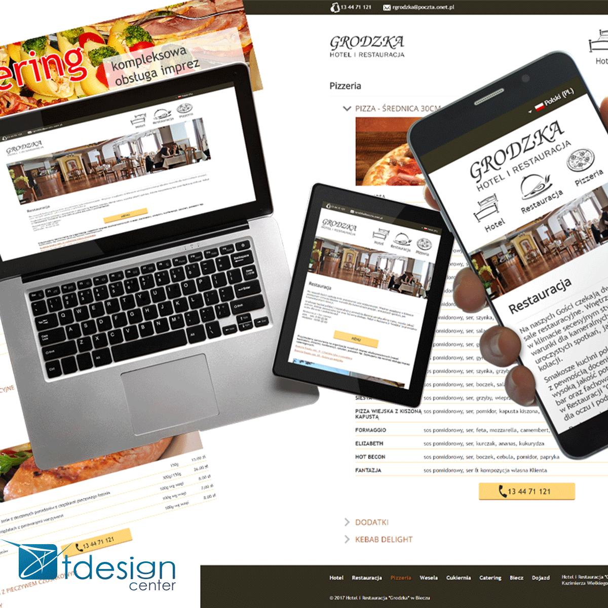 Strona internetowa stworzona dla restauracji Grodzka