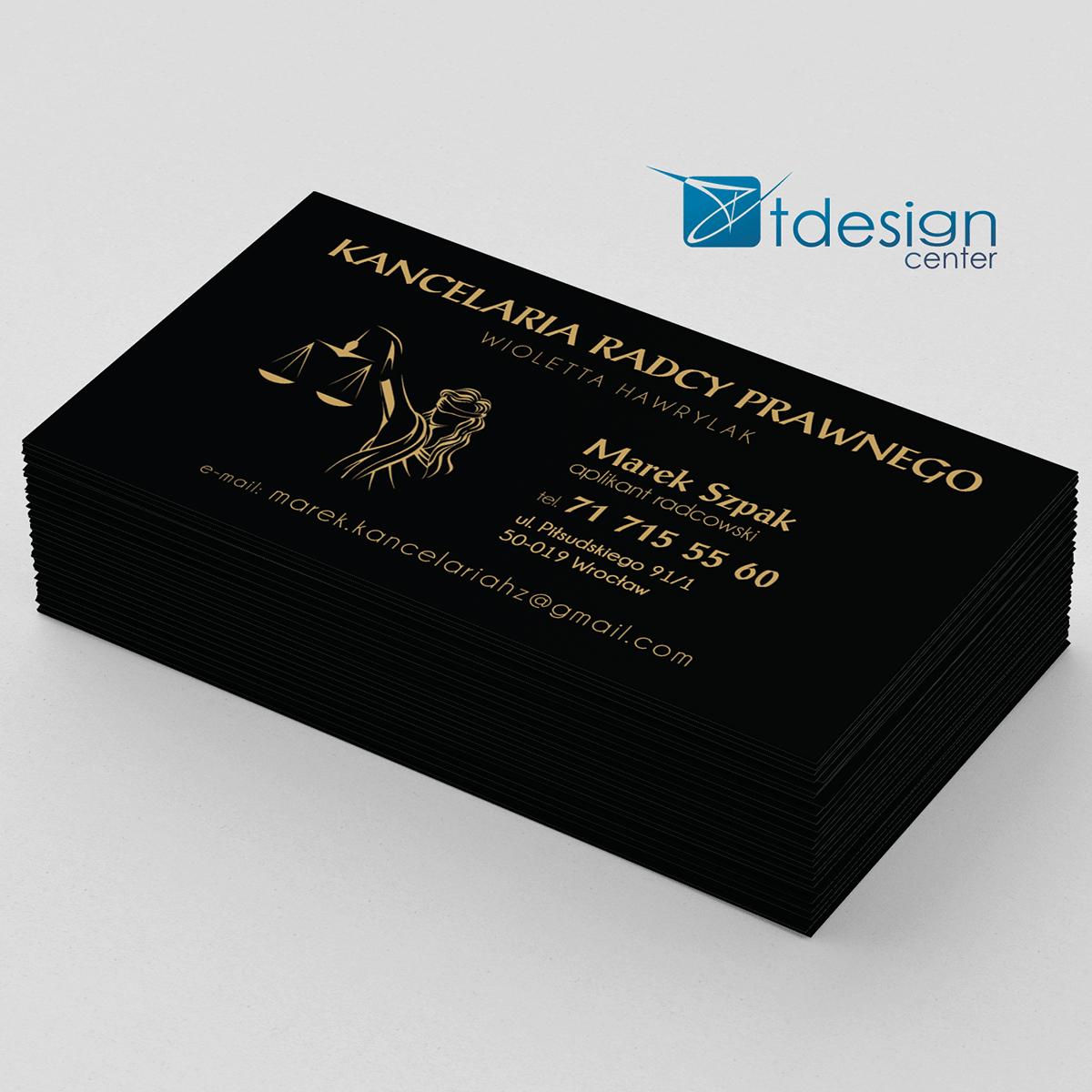 Wizytówka 90x50mm, projekt+druk