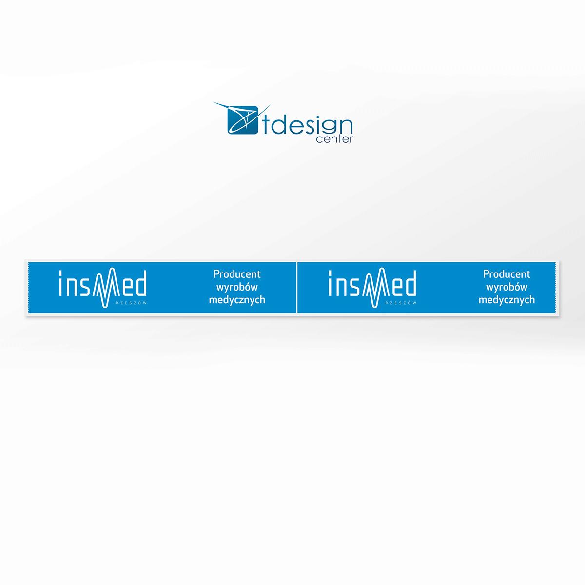 Taśma pakowa - projekt + druk, realizacja dla firmy Insmed