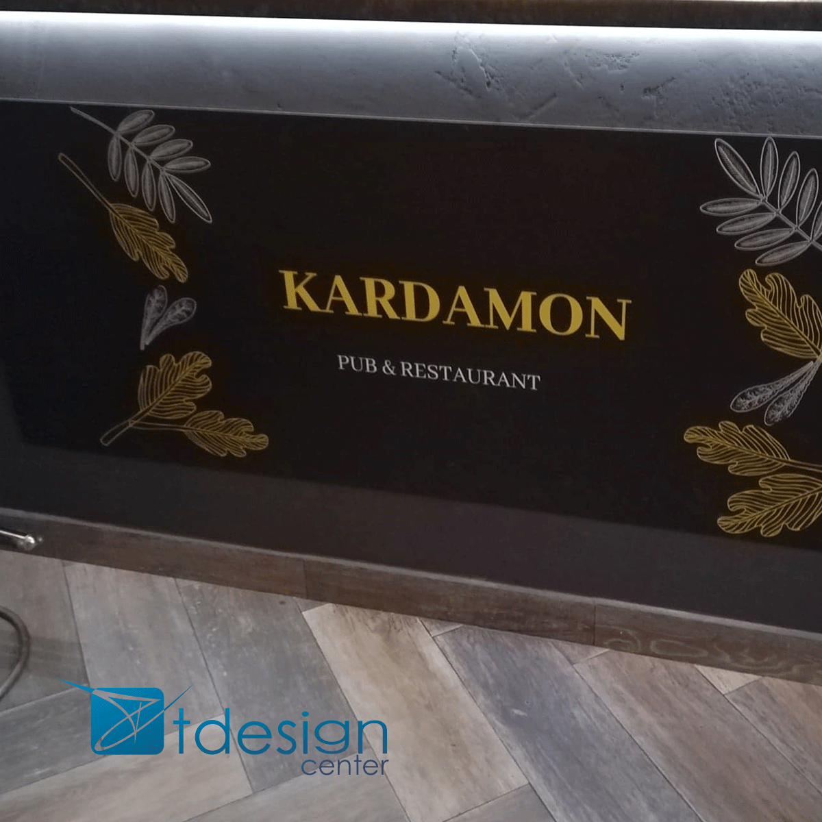 Tablica DIBOND 297x102cm, projekt + realizacja dla restauracji Kardamon