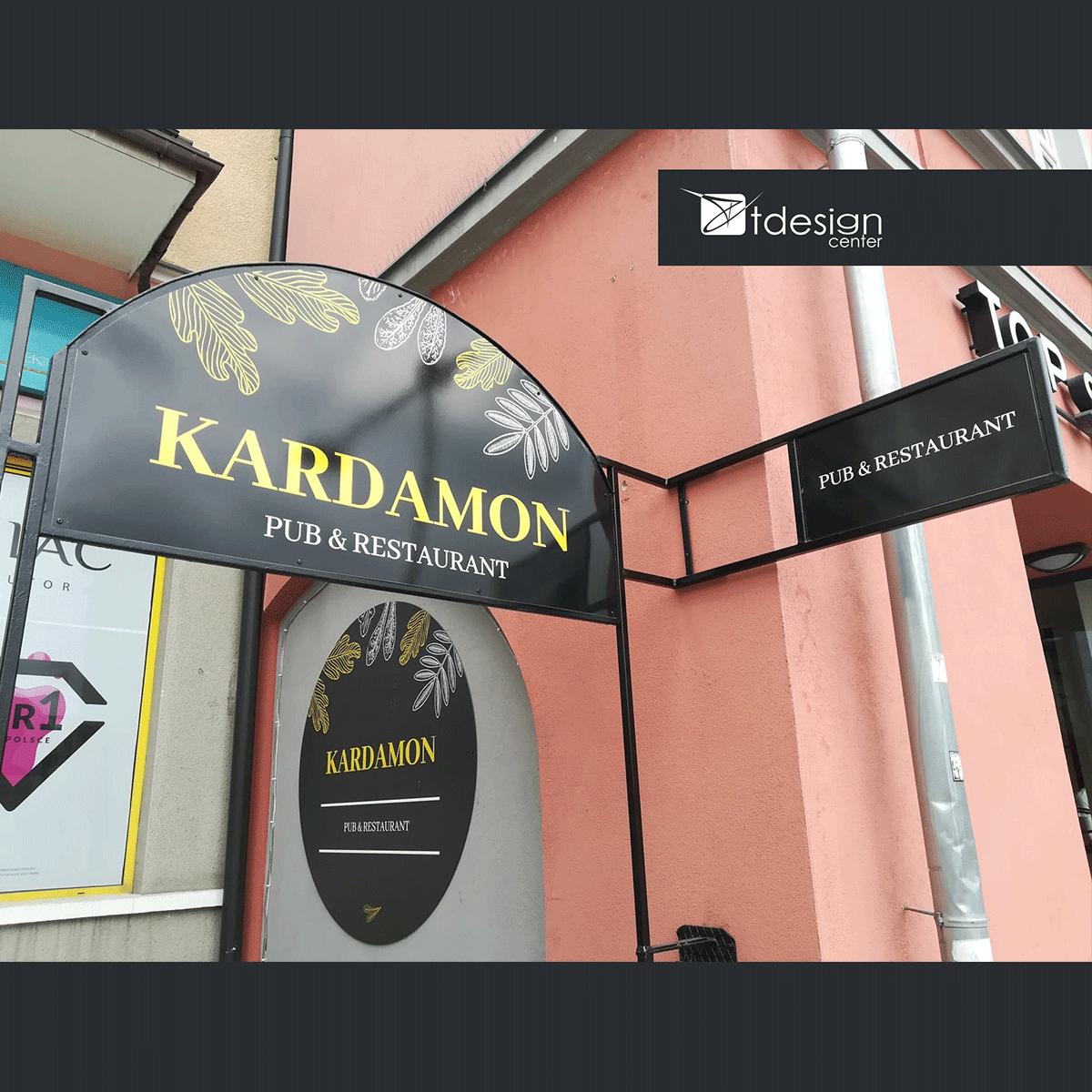 Projekt reklamy wykonany dla restauracji Kardamon