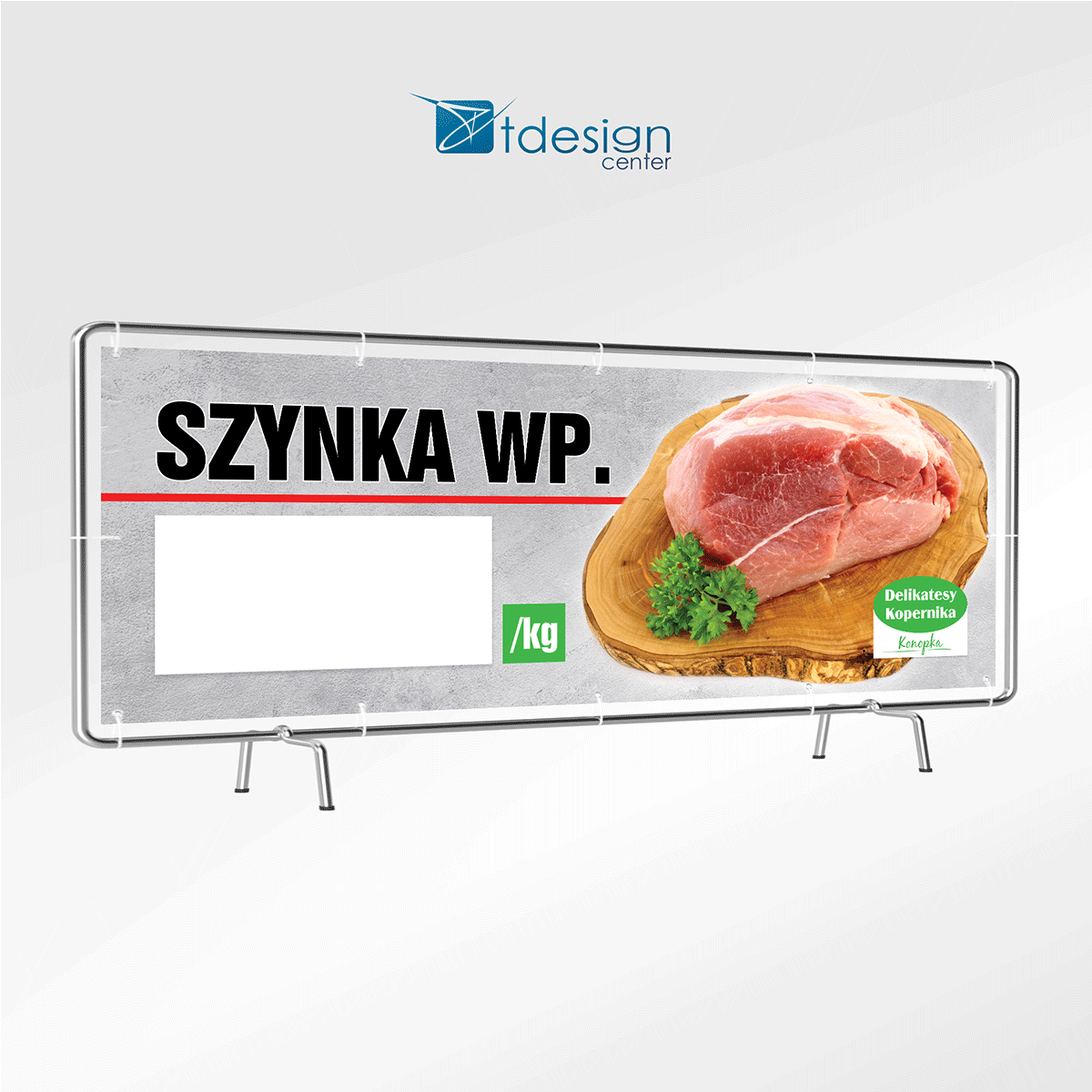 "Baner 200x70cm - projekt + druk - realizacja dla Delikatesów Kopernika ""Konopka"""