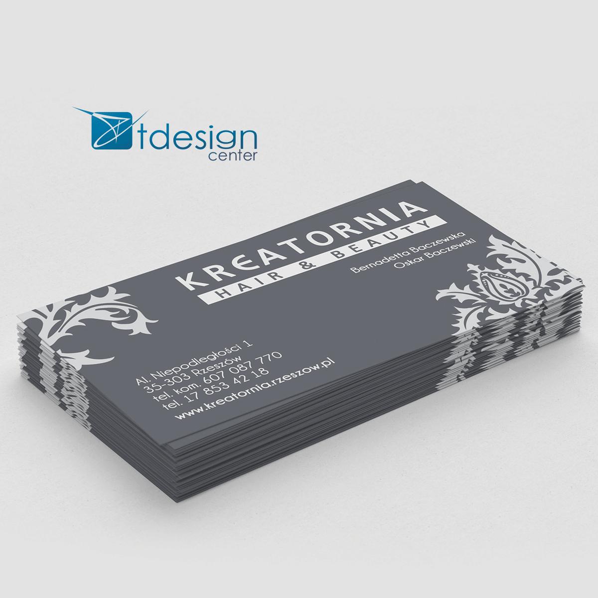 Wizytówki 90x50mm, projekt + druk