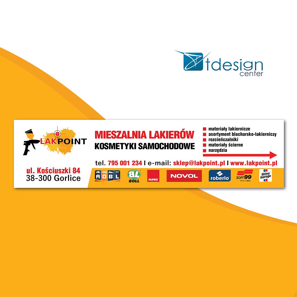 Baner 500x126cm, projekt + realizacja dla firmy LakPoint