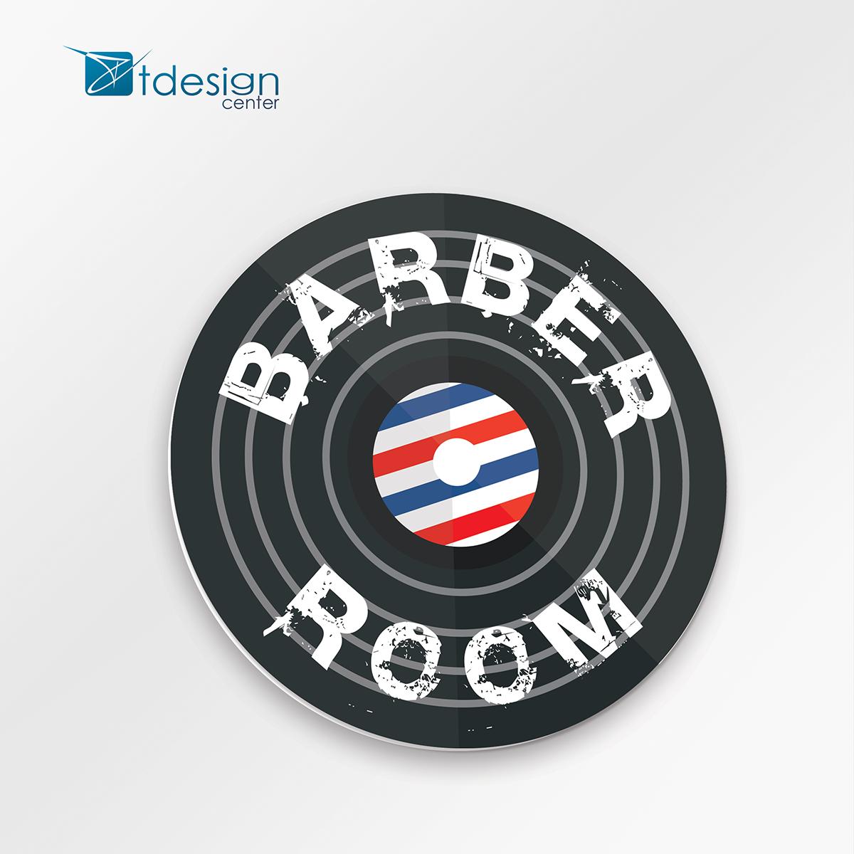 Tablica DIBOND 65x65cm - projekt + realizacja dla salonu fryzjerskiego Look'n'Roll