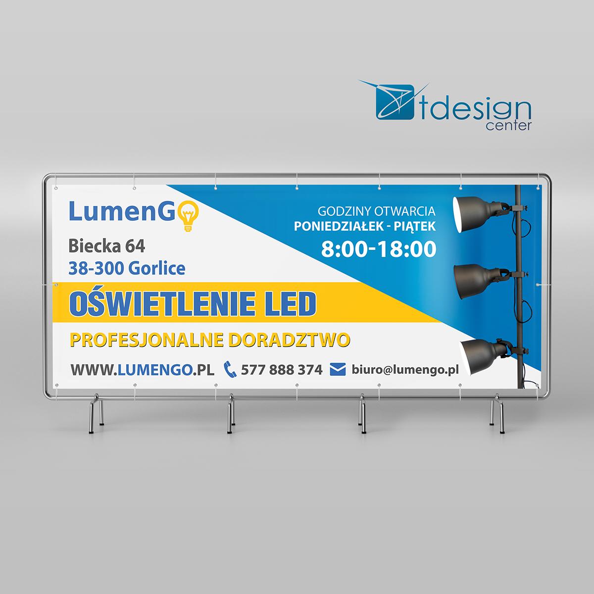 Baner 300x130c - projekt +druk - realizacja dla firmy LumenGO