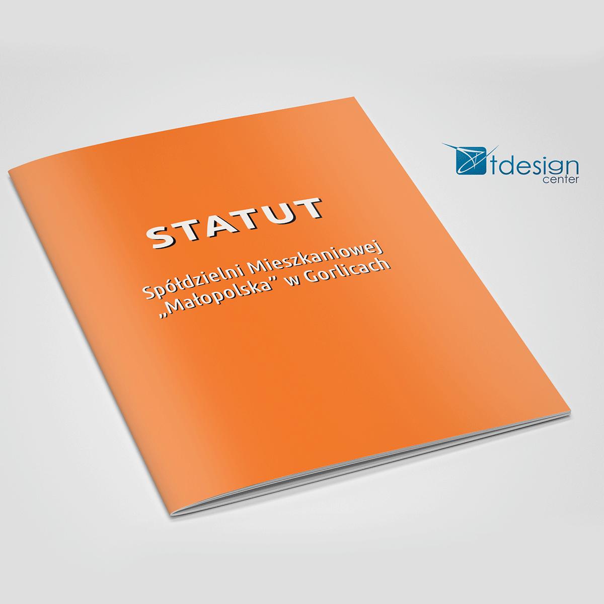 Skład DTP + druk, statut Spółdzielni Małopolska, format A5, 52 strony