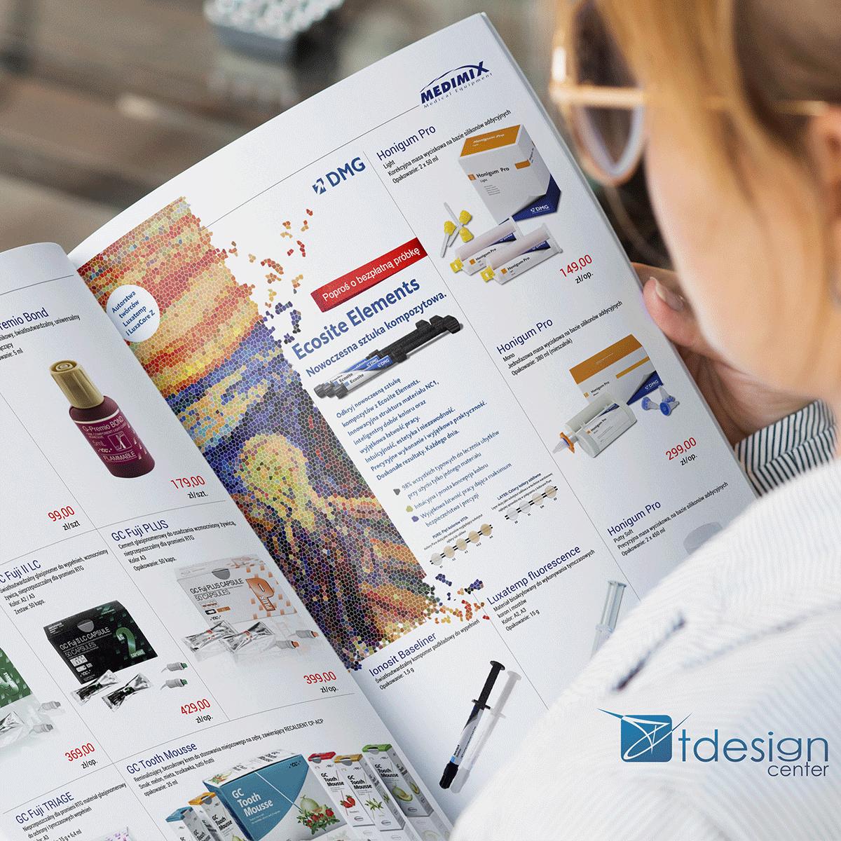Skład DTP - druk katalogu MEDIMIX