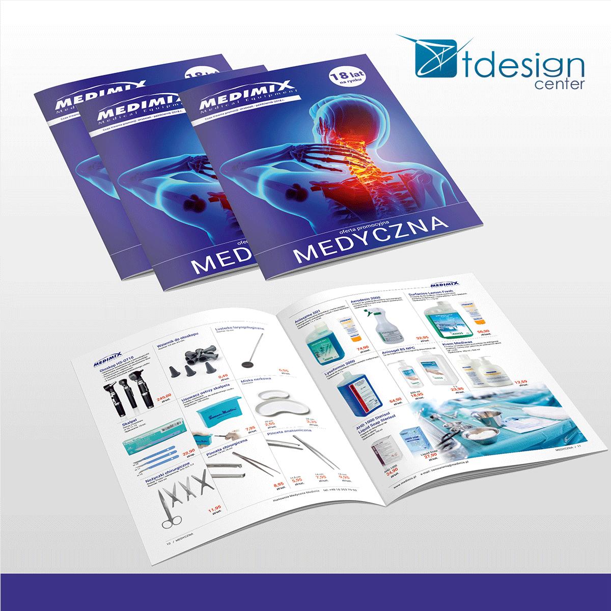 Skład DTP - druk katalogu medycznego MEDIMIX