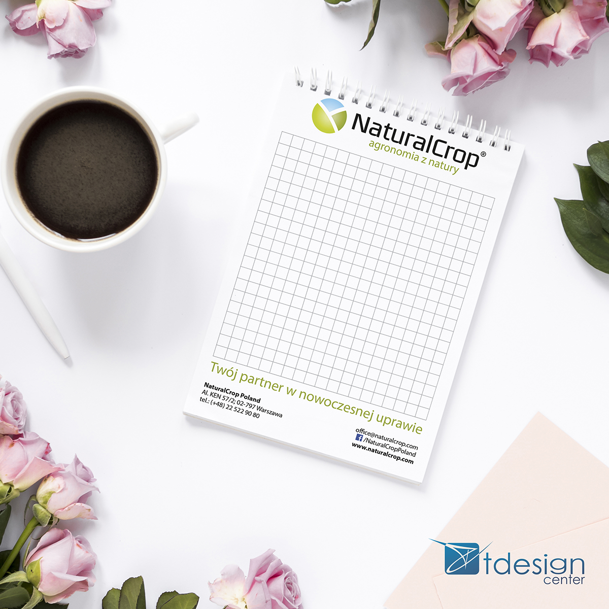 Notes A5 - projekt + druk - realizacja dla firmy NaturalCrop