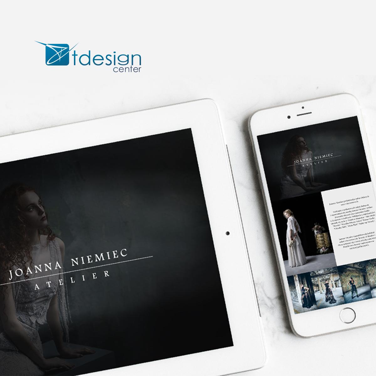 Strona internetowa wykonana dla projektantki Joanny Niemiec